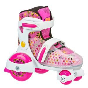 Roller Derby Girl's Fun Roll Adjustable Roller Skate