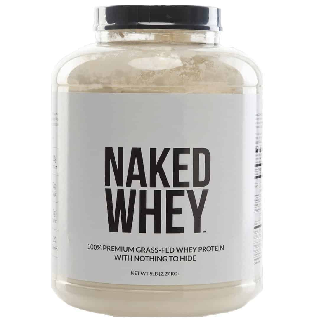 NAKED WHEY - 5LB #1 Undenatured 100% Grass Fed Whey Protein Powder from USA Farms - Bulk, Unflavored, GMO-Free, Gluten Free, Soy Free, Preservative Free - Stimulate Muscle Growth - Enhance Recovery - 76 Servings
