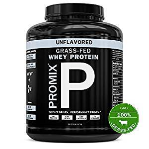PROMIX #1 Selling Unflavored, Undenatured 100% California Grass Fed Whey Protein, 5LB Bulk, Preservative Free, Mixes Instantly