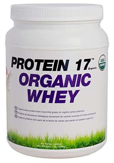 Protein 17 - Organic, Grass-Fed Whey Protein, Delicious Natural Flavor, 1lb/16oz/454g