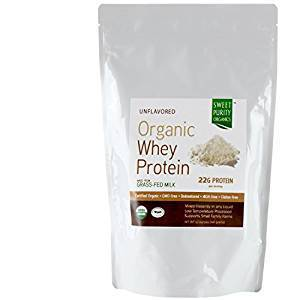 CERTIFIED Organic Whey Protein Powder #1 BEST TASTING Grass Fed Undenatured Concentrate NON GMO Free Gluten Free From California Not Isolate