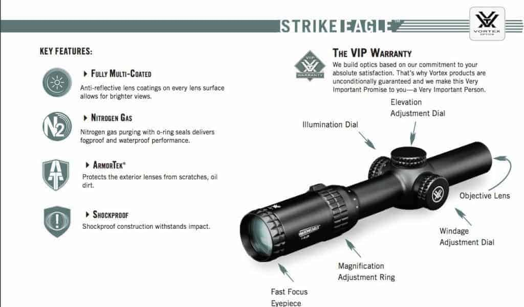 Vortex Optics Strike Eagle 1-6x24 Rifle Scope AR-BDC Reticle (MOA) SE-1624-1 with FREE Vortex Kryptek Highlander Ball Cap