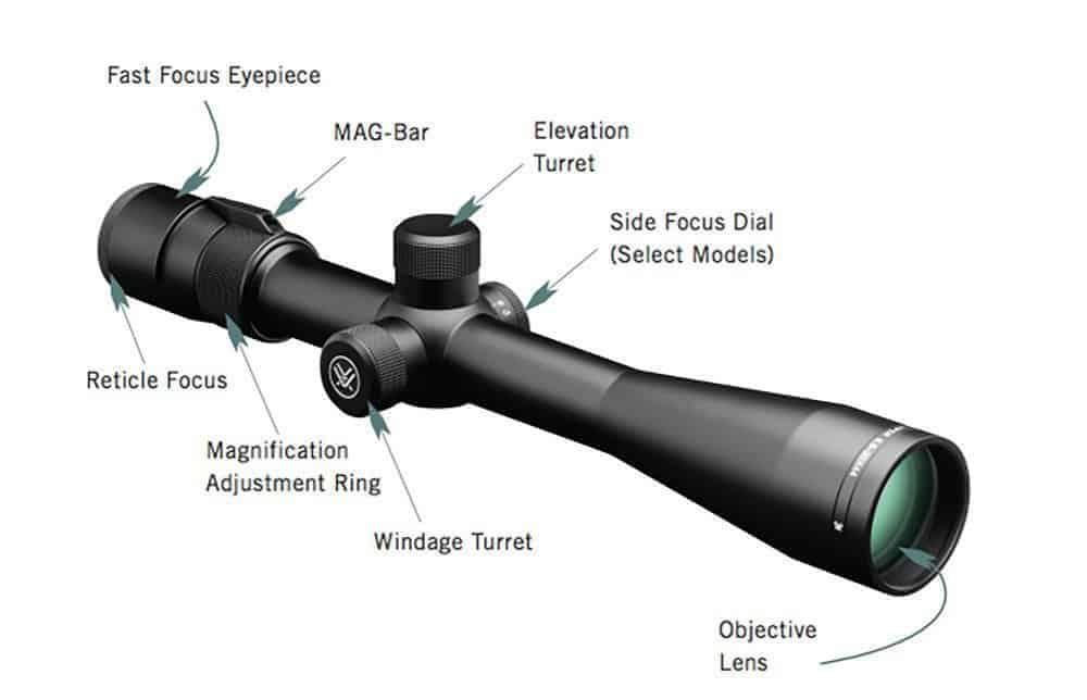 Vortex Optics Viper 6.5-20x50 PA Mil Dot Reticle- 30mm Tube