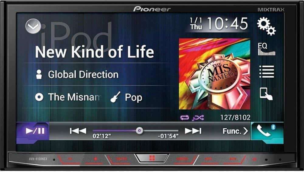 """Pioneer AVH-4100NEX In-Dash Multimedia DVD Receiver with 7"""" WVGA Touchscreen Display"""