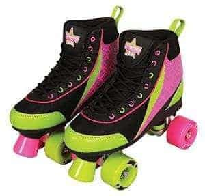 Kandy Skates Delish Black, Lime Green, & Pink Roller Skates