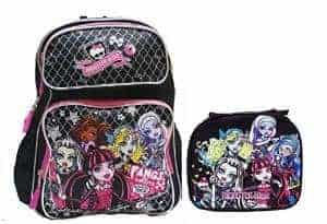 Monster High Large Backpack with Insulated Lunch Bag Set 2 Pcs