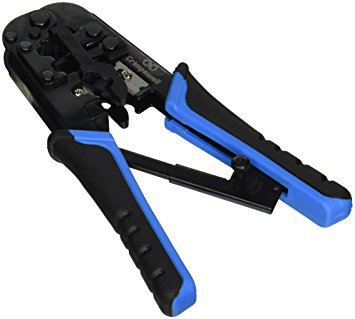 RJ45 and RJ12, RJ11 crimping tool - network ratcheting wire crimper, cutter, striper for cat5, cat6 coaxial cables - all in one