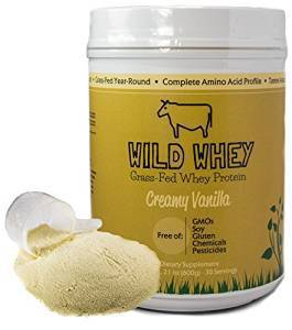 Grass-Fed Whey Protein, Cold Processed Non-Denatured, Biologically Active, GMO-Free Protein Concentrate Made Directly From Grass-Fed Milk (Not Cheese) (600g - 1.32 pound, Creamy Vanilla)